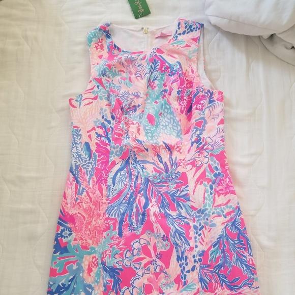 8dfd6af2947f3b Lilly Pulitzer Dresses | Aquadesiac Pink Mila Shift | Poshmark